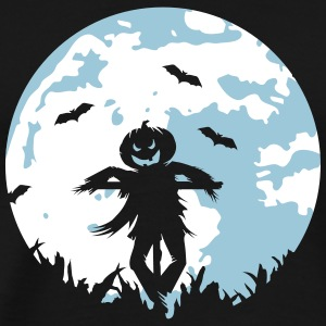 A pumpkin scarecrow in the cornfield and Moon T-Shirts - Men's Premium T-Shirt