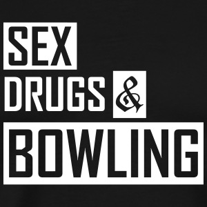 sex drugs and bowling T-Shirts - Men's Premium T-Shirt