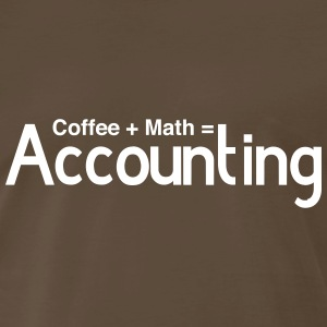 Coffee + Math = Accounting T-Shirts - Men's Premium T-Shirt