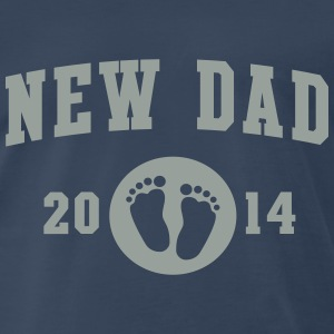 New Dad baby feet 2014 T-Shirts - Men's Premium T-Shirt