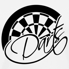Darts Board Logo Design T-Shirts