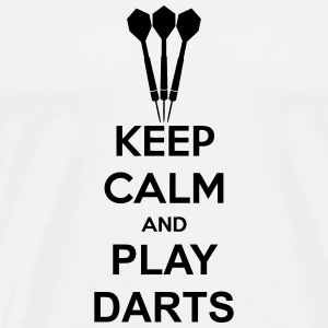 Keep Calm And Play Darts T-Shirts - Men's Premium T-Shirt