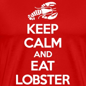Keep Calm Eat Lobster White T-Shirts - Men's Premium T-Shirt
