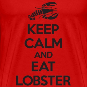 Keep Calm and Eat Lobster Black T-Shirts - Men's Premium T-Shirt