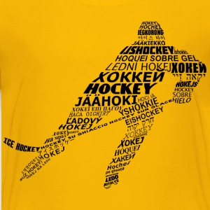 Hockey Languages Typography Kids' Shirts - Kids' Premium T-Shirt