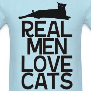 Real.Man.Love.Cats - Men's T-Shirt