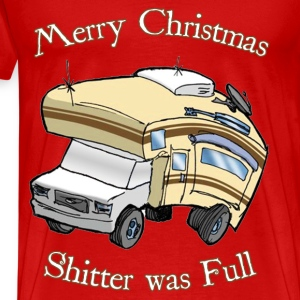 Merry Christmas, Shitter was Full - Men's Premium T-Shirt