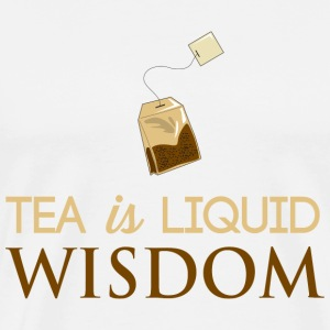 Tea is Liquid Wisdom T-Shirts - Men's Premium T-Shirt
