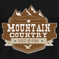 Design ~ Mountain Country 107.9 Premimum T-Shirt Sizes up to 5X