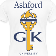 Design ~ Ashford Golden Key (plus size women's fit) logo front & back