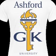 Design ~ Ashford Golden Key (plus size women's fit) logo front & back