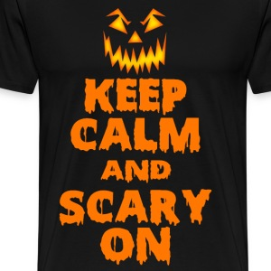 Keep Calm And Scary On Halloween - Men's Premium T-Shirt