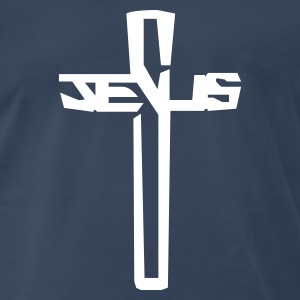 Jesus Word Cross Crucifix  T-Shirts - Men's Premium T-Shirt