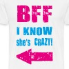 i know she is crazy T-Shirts - Men's Premium T-Shirt