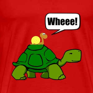 Snail Turtle Ride - Men's Premium T-Shirt