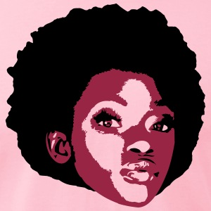 AFRO GIRL T-Shirts - Men's T-Shirt by American Apparel