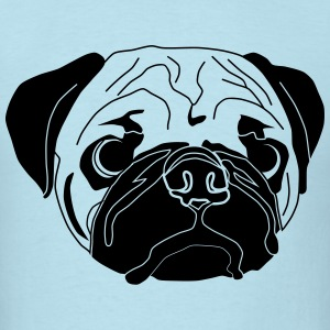 cute pug dog - Men's T-Shirt