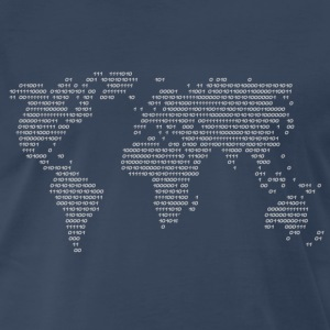 World Code World in binary Shirt - Men's Premium T-Shirt