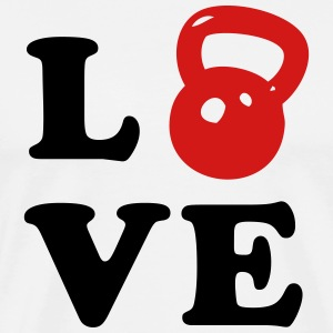Love Kettlebell For Crossfit T-Shirts - Men's Premium T-Shirt