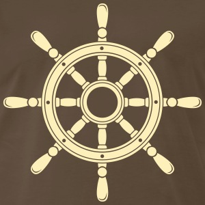 Steering wheel of the ship Shirt - Men's Premium T-Shirt