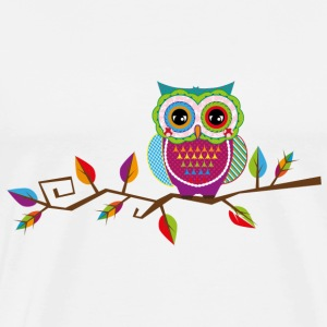 Owl sitting on a branch T-Shirts - Men's Premium T-Shirt