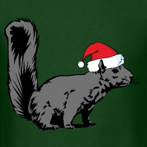 Christmas Squirrel - Men's T-Shirt