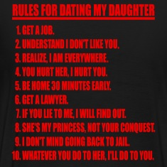 Rules For Dating My Daughter Red & Black T-shirt