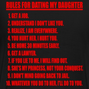 Rules For Dating My Daughter Red & Black T-shirt - Men's Premium T-Shirt