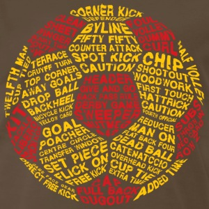 Soccer Ball Typography T-Shirts - Men's Premium T-Shirt