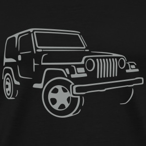 Jeep Wrangler 4x4 Rock Crawler Shirt Artwork  - Men's Premium T-Shirt