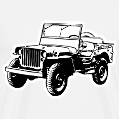 Willys Jeep (2 color) T-Shirts