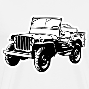 Willys Jeep (2 color) T-Shirts - Men's Premium T-Shirt