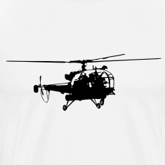 Helicopter Alouette (1 color) T-Shirts