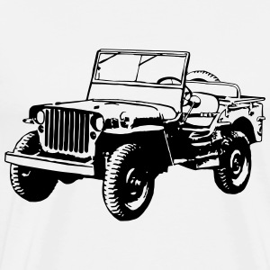 Willys Jeep (1 color) T-Shirts - Men's Premium T-Shirt