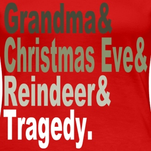 christmas tragedy Women's T-Shirts - Women's Premium T-Shirt