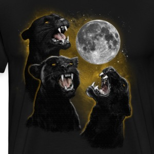 3 PANTHER MOON T-Shirts - Men's Premium T-Shirt