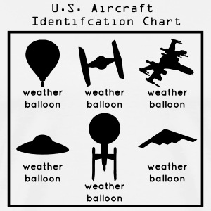 US Aircraft Identification Chart (UFOs) T-Shirts - Men's Premium T-Shirt