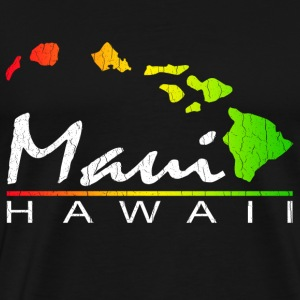Maui Hawaii (Distressed Vintage Look) - Men's Premium T-Shirt