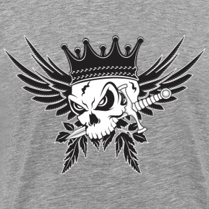 King Skull with Dagger T-Shirts - Men's Premium T-Shirt