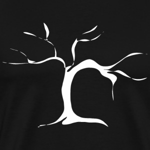 Branched tree - white T-Shirts - Men's Premium T-Shirt