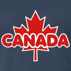 CANADA Maple Leaf Design T-Shirt 2C - Men's Premium T-Shirt