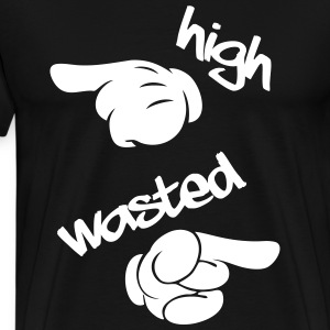 High , Wasted - Men's Premium T-Shirt