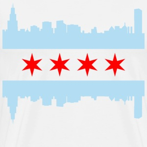 Chicago Flag Skyline - Men's Premium T-Shirt