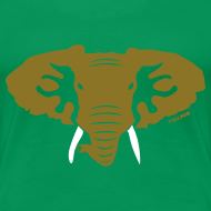 Design ~ Hellaphant - Metallic Gold - Women's Tee