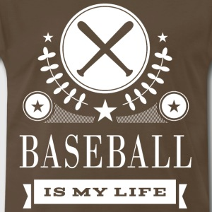 Baseball Is My Life Sports T-Shirts - Men's Premium T-Shirt