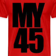 Design ~ My 45 Behind Me ( a DJ Tee) Mens T Shirt