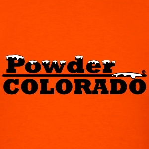 Colorado Powder Artwork - Men's T-Shirt
