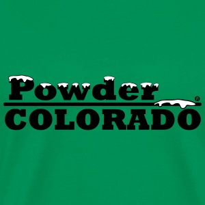 Colorado Powder Artwork - Snow, Powder, Colorado,  - Men's Premium T-Shirt