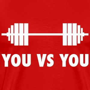 you vs you - for cross fit T-Shirts - Men's Premium T-Shirt