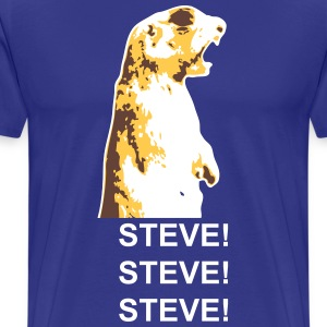 ALLEN/STEVE Shouting Squirrel T-Shirts - Men's Premium T-Shirt